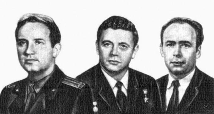 Georgi Dobrovolski, Viktor Patsayev, and Vladislav Volkov – Soyuz 11