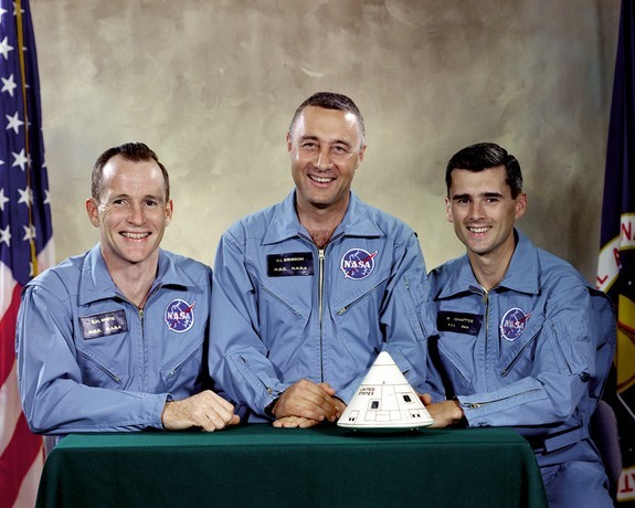 Gus Girssom, Edward White II, and Roger Chaffee – Apollo 1