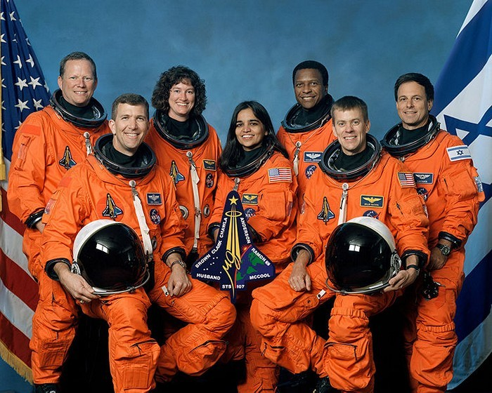 Rick D. Husband, William McCool, Michael P. Anderson, David M. Brown, Kalpana Chawla, Laurel B. Clark, and Ilan Ramon – Space Shuttle Columbia Mission STS-107